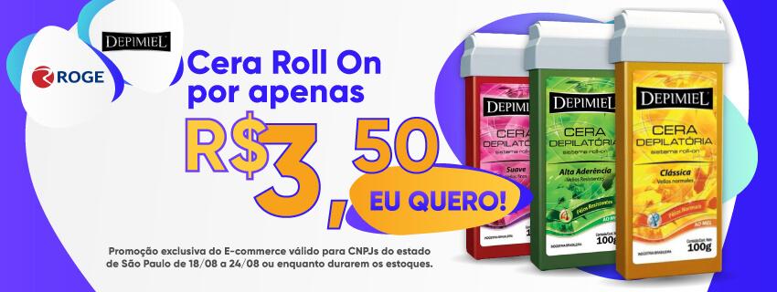 DEPIMIEL - Cera Roll On por apenas R$3,50