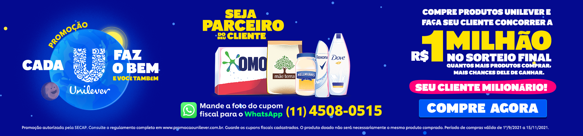 Banners Unilever Promoção - 01.09 a 15.11