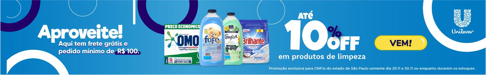Unilever - Até 10% OFF em produtos de limpeza