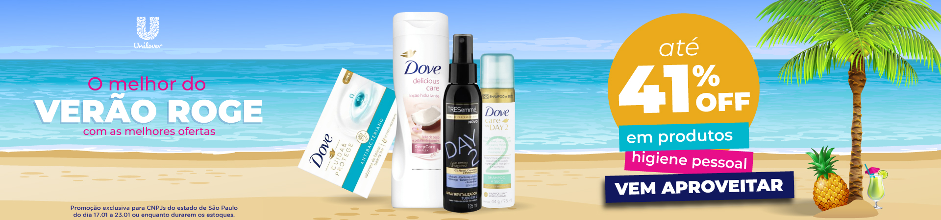 Unilever - Até 41% OFF em higiene pessoal