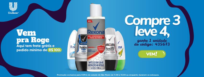Unilever - Compre 3 leve 4, ganhe 1 unidade do código: 435685