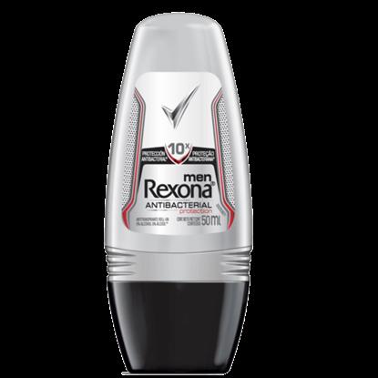 Imagem de Desodorante roll-on rexona 50ml masculino antibacterial