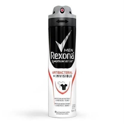 Imagem de Desodorante aerosol rexona 150ml masc invisible antibacterial