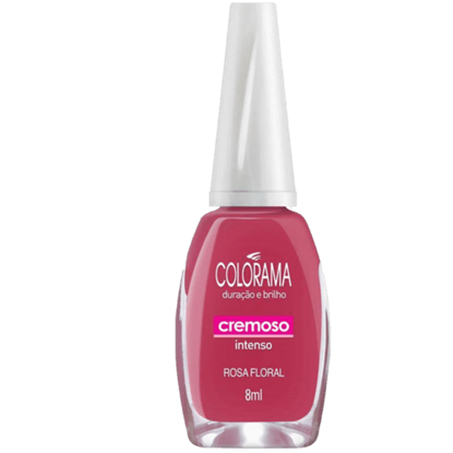 Imagem de Esmalte cintilante colorama rosa floral sm