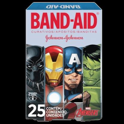 Imagem de Curativo transparente band aid c/25 avengers