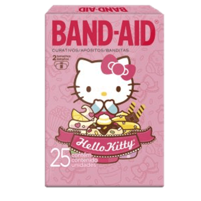 Imagem de Curativo transparente band aid c/25 hello kitty