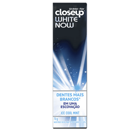 Imagem de Creme dental branqueador close-up 70g white now ice cool mint
