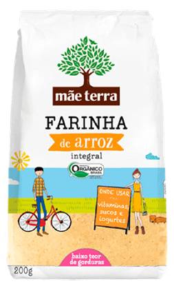 Imagem de Farinha de arroz mãe terra 200g integral