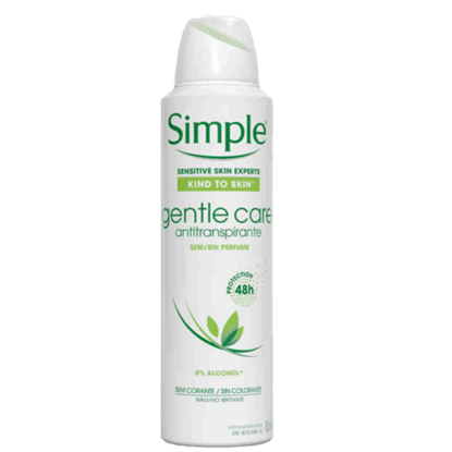 Imagem de Desodorante aerosol simple 150ml glente care