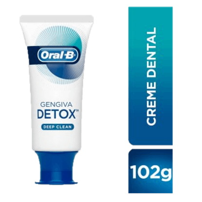 Imagem de Creme dental tradicional oral-b 102g detox deep clean