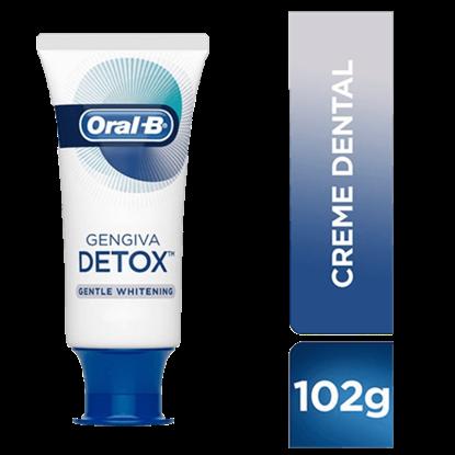 Imagem de Creme dental tradicional oral-b 102g detox gentle whitening