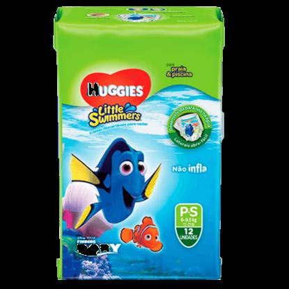 Imagem de Fralda infantil huggies c/12 little swimmers p
