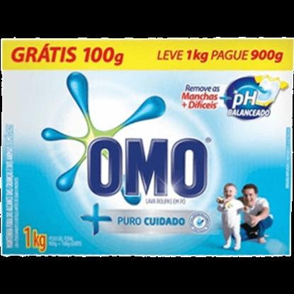 Imagem de Detergente em pó omo l1kgp900g puro cuidado