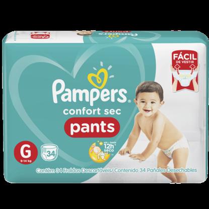 Imagem de Fralda infantil pampers pants c/34 confort sec gd pc
