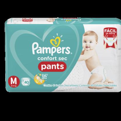 Imagem de Fralda infantil pampers pants c/40 confort sec md pc