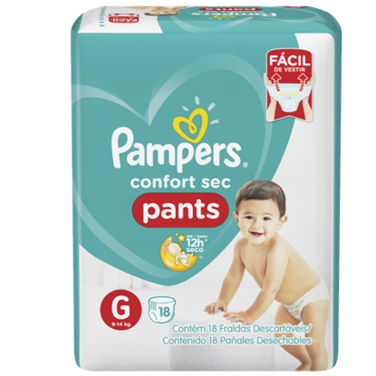 Imagem de Fralda infantil pampers pants c/18 confort sec gd pc