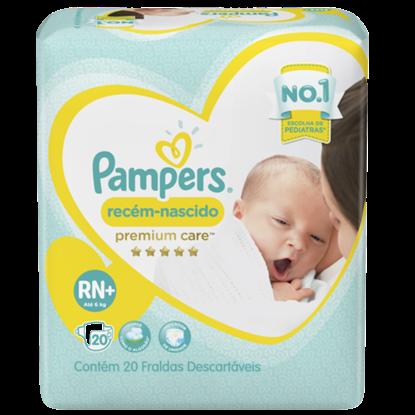 Imagem de Fralda infantil pampers premium care c/20 rn+ pc