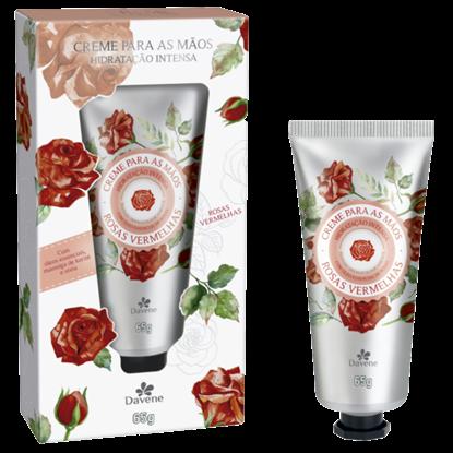 Imagem de Creme para mãos davene 65g rosas vermelhas