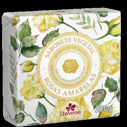 Imagem de Sabonete em barra vegetal davene 200g rosas amarelas