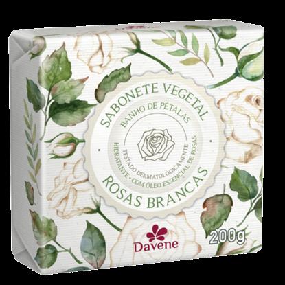 Imagem de Sabonete em barra vegetal davene 200g rosas brancas