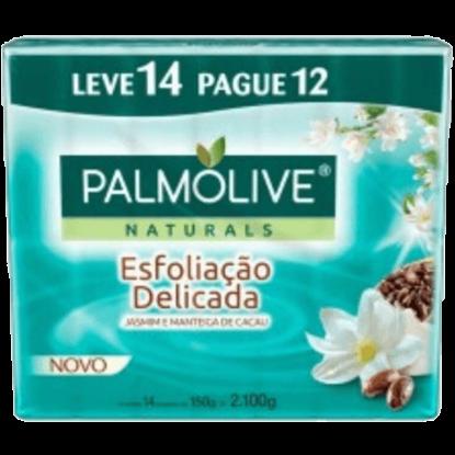 Imagem de Sabonete em barra uso diário palmolive 150g esfoliação leve 14 pague 12