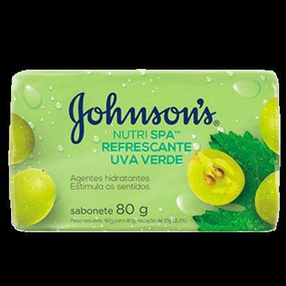 Imagem de Sabonete em barra uso diário johnson johnson 80g uva verde