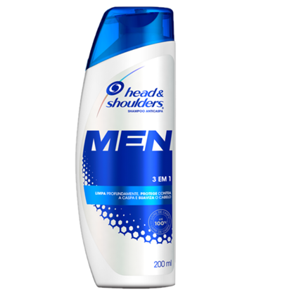 Imagem de Shampoo anti caspa head  shoulders 200ml 3x1