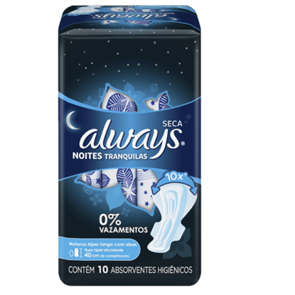 Imagem de Absorvente com abas always c/10 suave e seca noturno