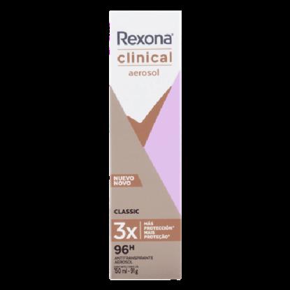 Imagem de Desodorante aerosol rexona 150ml feminino clinical classic