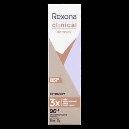 Imagem de Desodorante aerosol rexona 150ml feminino clinical extra dry