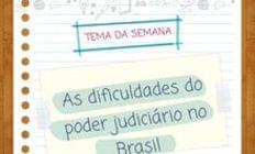 As dificuldades do Poder Judiciário no Brasil
