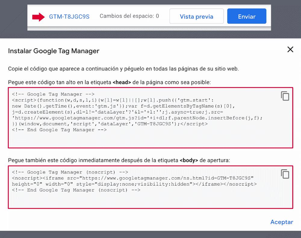 Código Google Tag Manager
