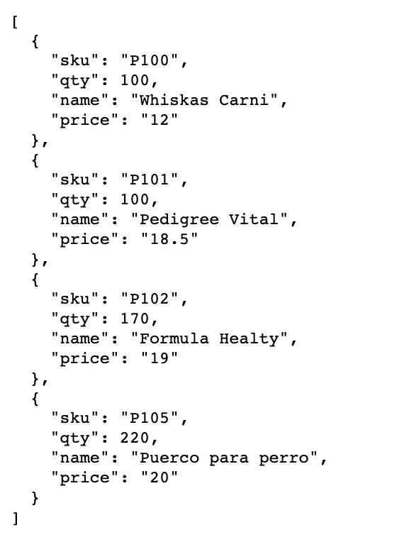 Datos servidor externo actualizados