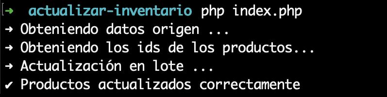 Ejecución de código desde la línea de comandos