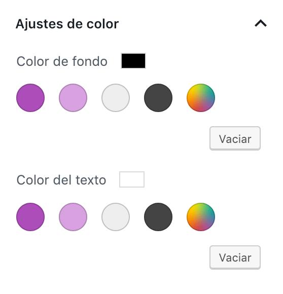 Restricción de paleta para mostrar sólo algunos colores