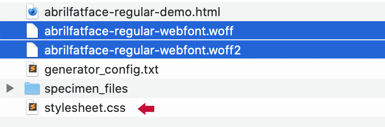 Resultado archivos woff y woff2