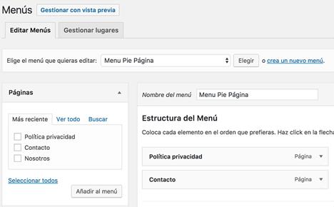 Añadir una nueva ubicación de menú a un theme WordPress - DecodeCMS