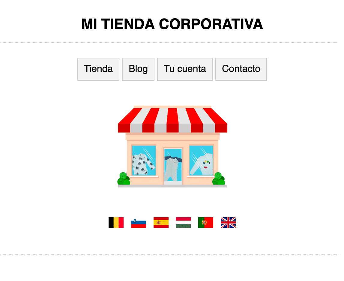 Pagina estática HTML como página de inicio
