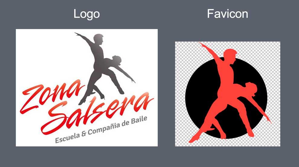 construcción de favicon en base a un logo