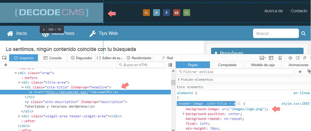 Cambiar el logo en la versión móvil de tu sitio Web - DecodeCMS