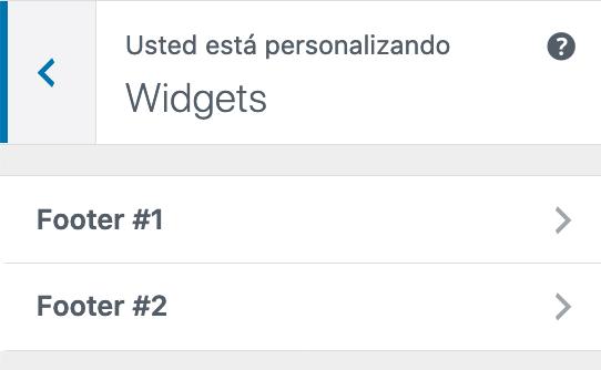Zona de Widgets en Twenty Twenty