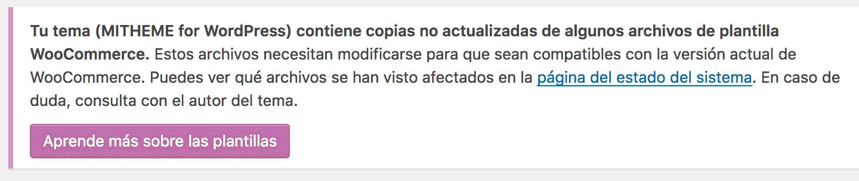 Copias no actualizadas de algunos archivos de plantilla WooCommerce ...