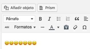Pegar Emoji en editor WordPress
