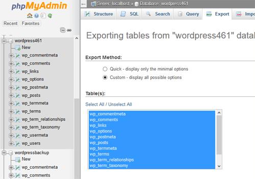 PHPMyAdmin exportar base de datos