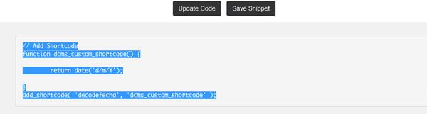 Código final generado