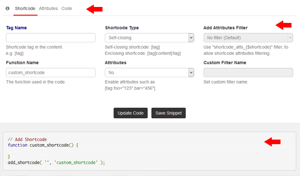 Plantilla shortcode ejemplo
