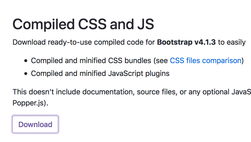 Descargar archivos minificados Bootstrap