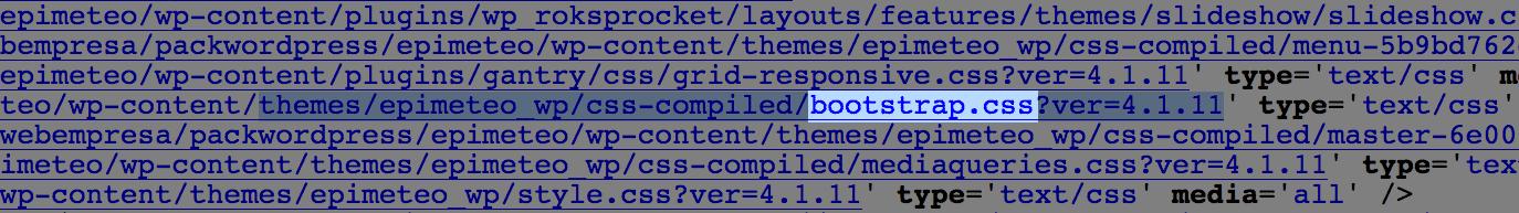 buscar Bootstrap en código