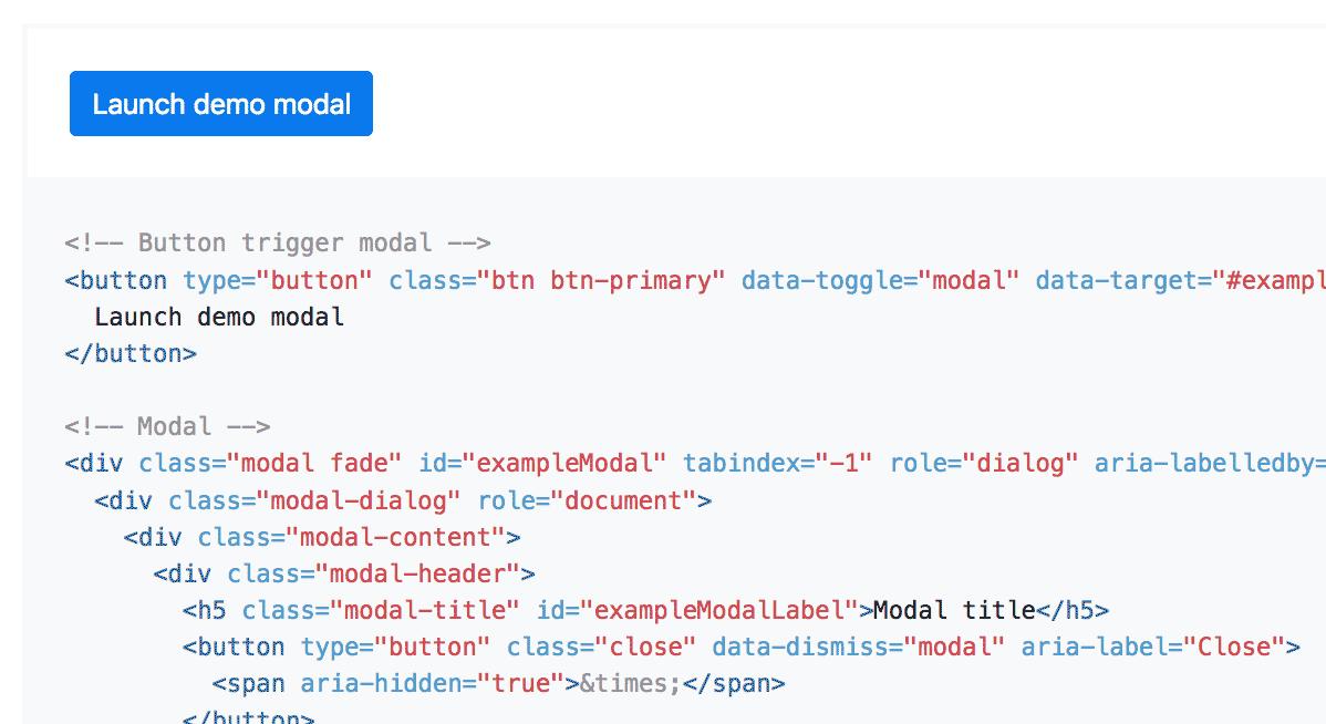 Código para crear ventana modal Bootstrap