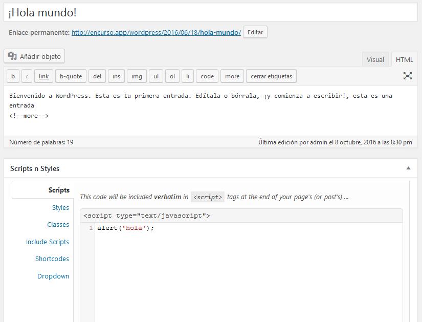 Insertar javascript en WordPress de forma correcta - DecodeCMS